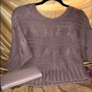 Derek Heart cute mauve color sweater